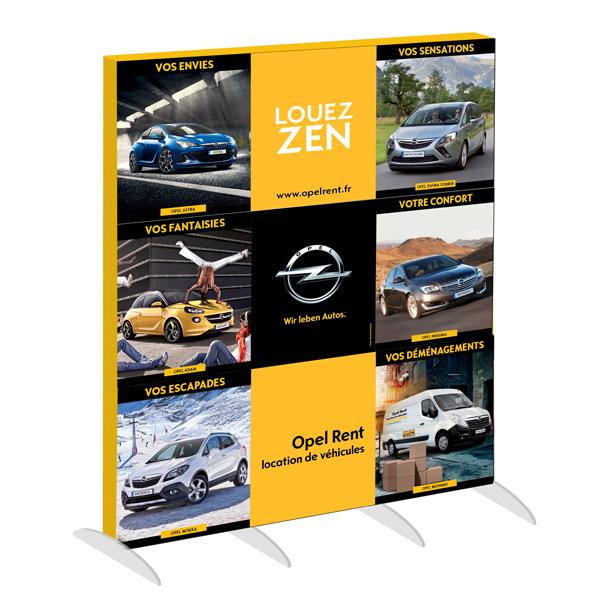 Opel Rent - mur d'image pour les concessions
