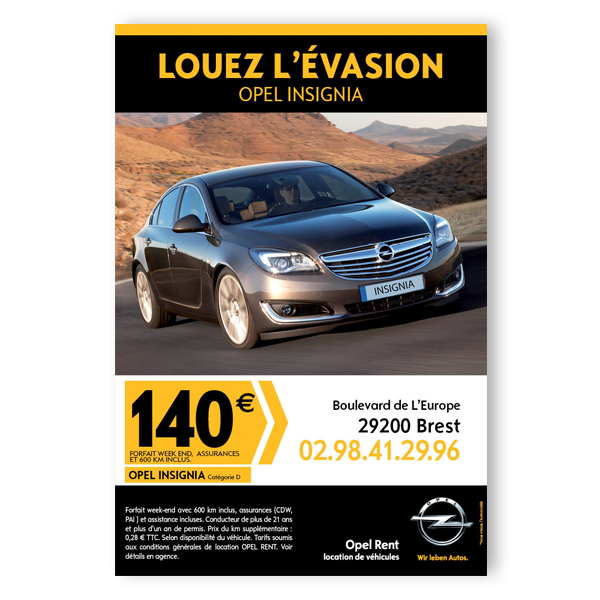 Opel Rent - Annonce presse