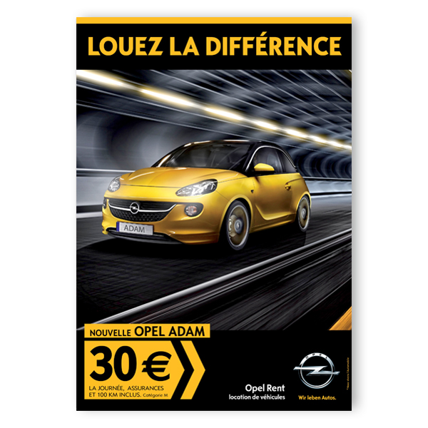 Opel Rent - Affiche
