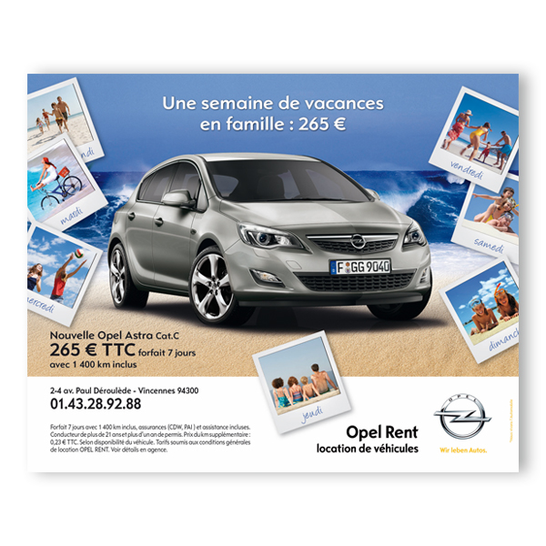 Opel Rent - Campagne 4 x 3