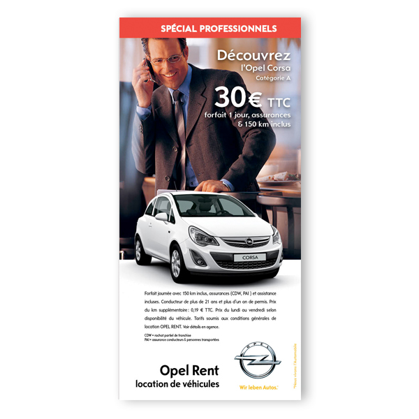 Opel Rent - Leaflet pro