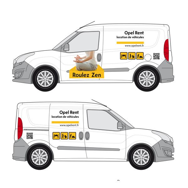 Opel Rent - Habillage véhicule